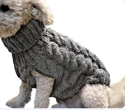 Indi Knitted Sweater Charcoal | Daniel's Pet Emporium