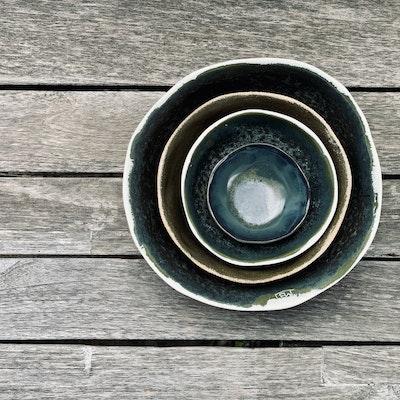 Memory Box Entertainers Nesting Bowl Set in Rainforest (x4 bowls)