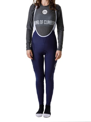 Band of Climbers Women's Icon Thermal Bib Tights - Navy/Silver