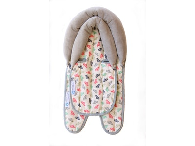 Keep Me Cosy™ Baby Head Support for Car Seat, Pram or Strollers (Twin Pack) - Paper Boat