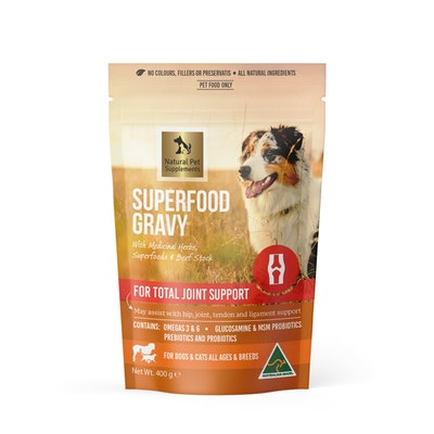 Natural Pet Supplements Joint Support Superfood Gravy