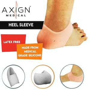 Boutique Medical 1 Pair AXIGN Medical Silicone Gel Heel Sleeve Bunion Foot Pad Cushioning Support