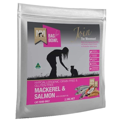 MEALS FOR MUTTS Meals For Meows Grain Free Adult Mackerel & Salmon Dry Cat Food