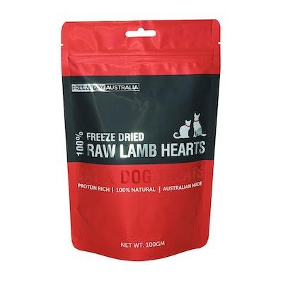 Freeze Dry Australia - Raw Lamb Hearts 100g