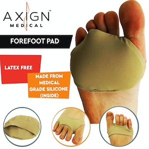 Boutique Medical 1 Pair AXIGN Medical Forefoot Pad Arch Support Cushion Insoles Cushioning Metatarsal