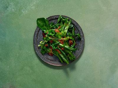 Asian Greens, Shiitake XO