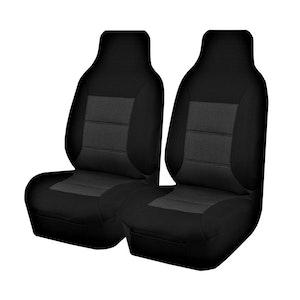 Premium Car Seat Covers For Toyota Hiace Trh-Kdh Series 2005-2015 Single/Crew Cab | Black