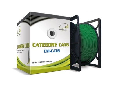 DCS 305m Cat6 Ethernet Network computer cable in green