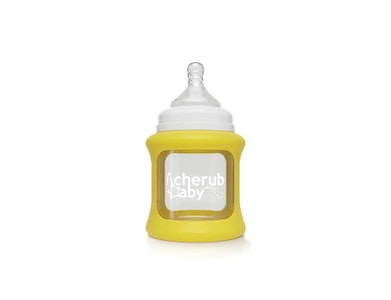 Colour Change Glass Bottles Wide Neck 150ml Single Pack - Yellow