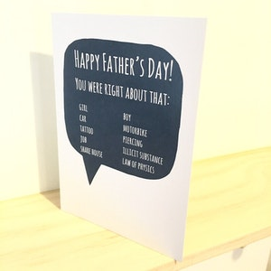 Father's Day card - You were right about that...