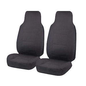 Challenger Car Seat Covers For Toyota Hilux Single Cab Chassis 2015-2020 | Charcoal