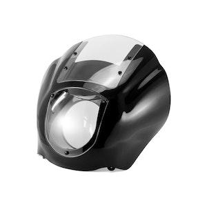 Sportster / Dyna Style Detachable Quarter Headlight Fairing Kit - Clear