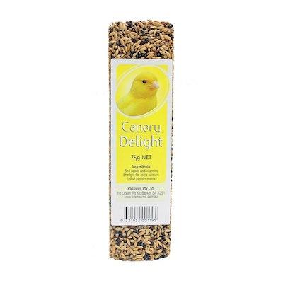 PASSWELL Avian Delight Bird Seed Treat Bar Canary 75g 24 Pack
