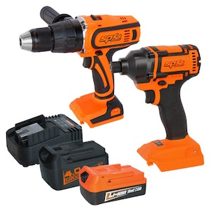 Hammer Driver Drill And Impact Driver Kit 18v 2 Piece SP82202