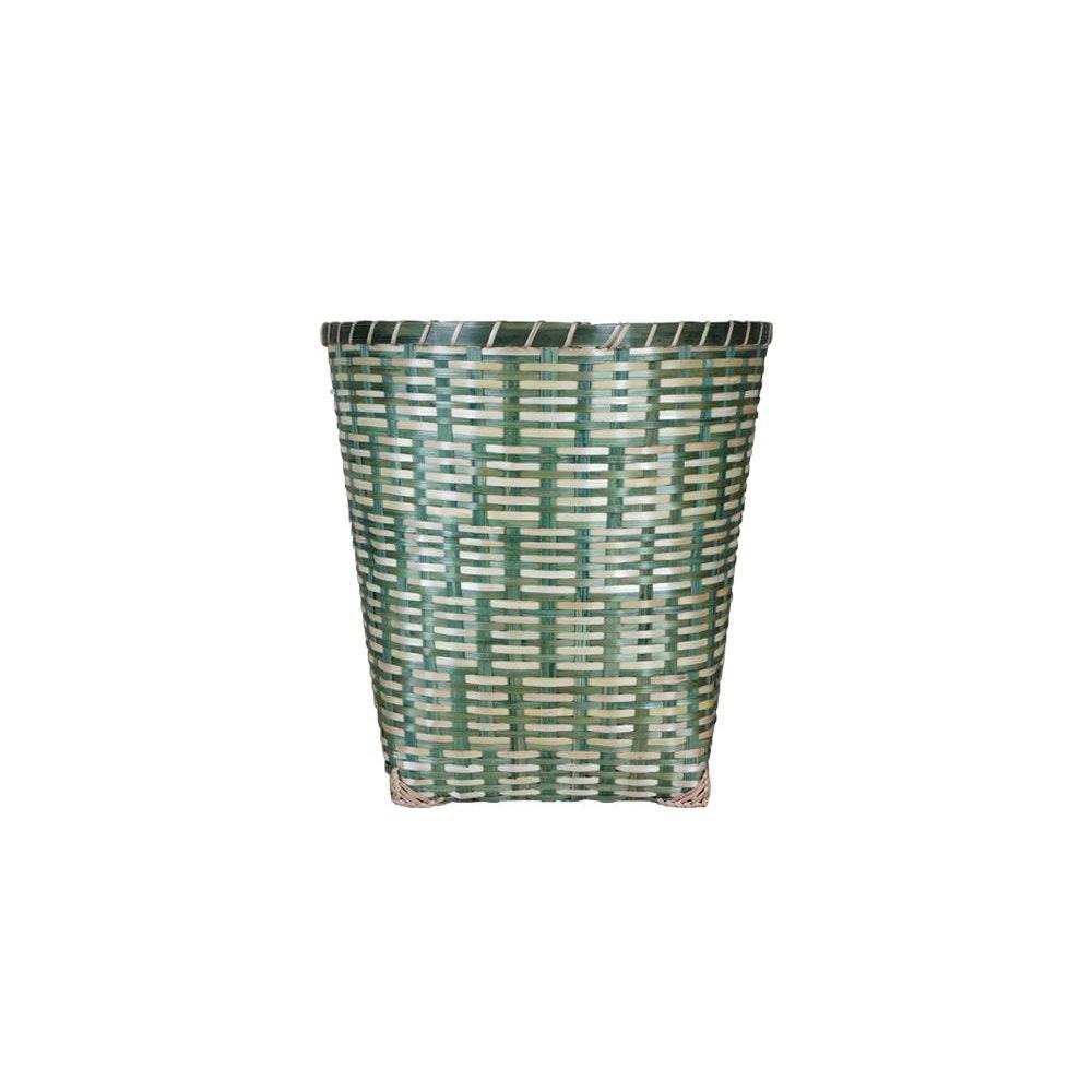 Birdie Fortescue Woven Wastepaper Basket - Green