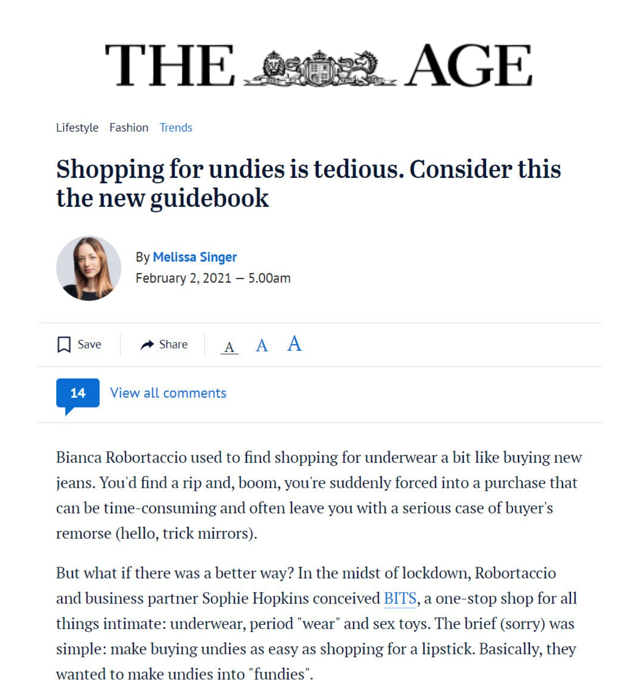 Bits in The Age