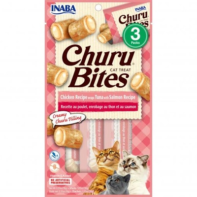 INABA Chicken Wraps Tuna With Salmon Churu Bites Cat Treats