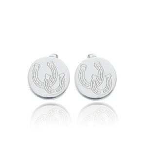 Breeze Horseshoe Stud Earrings