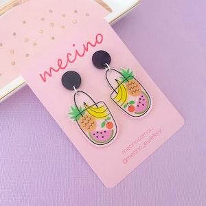 To Market To Market! Acrylic Earrings