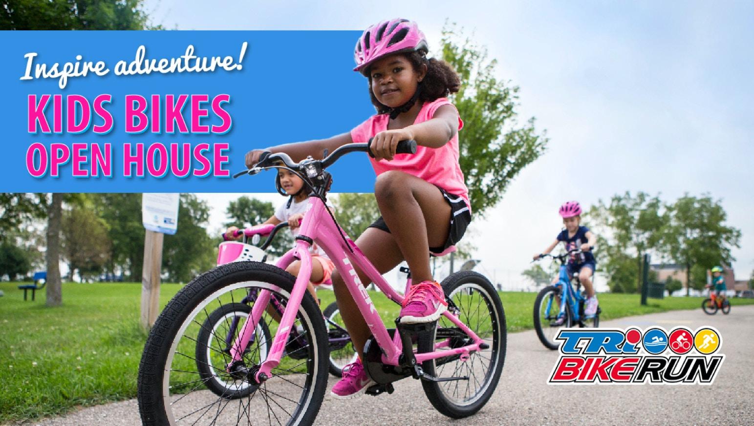 Kids' Bikes Open House at Tri Bike Run this May!