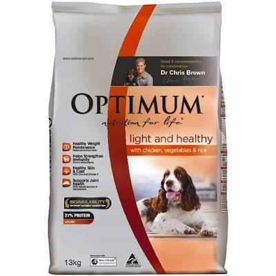 Optimum Lite & Healthy Adult Chicken, Vegetables & Rice Dry Dog Food 13kg
