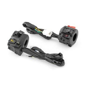 Black ABS Motorcycle Control Switch Set Combo