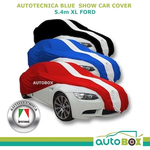Show Car Indoor Dust Cover 5 Sizes 3 Colours Black / Red / Blue (Not Waterproof)