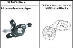 Hope Tech 3 Sram Shifter Mount Clamp Pair Black