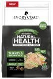 IVORY COAT Wholegrain Dry Dog Food Adult Large breed Turkey & Brown Rice 2.5kg