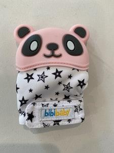 BibiLand BibiMitt Panda Teething Mitts - Pink