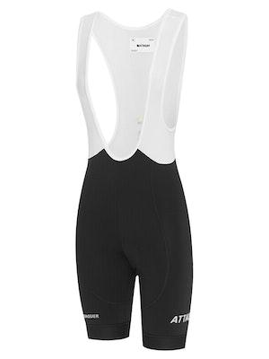 Attaquer Womens All Day Bib Short Black Reflective White Logo