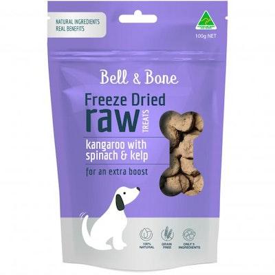 BELL & BONE Kangaroo With Spinach & Kelp Freeze Dried Dog Treats 100G
