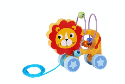 Tooky Toy BEADS PULL ALONG-LION