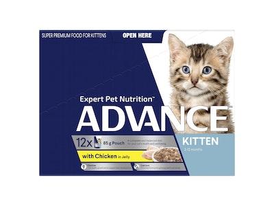 Advance Kitten 2-12 Months Chicken Jelly 12X85g