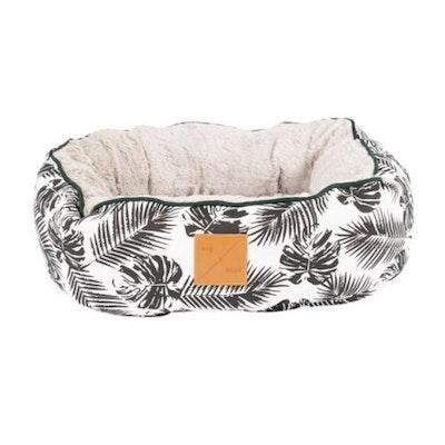 Mog & Bone 4 Seasons Black Leaf Circular Cat Bed