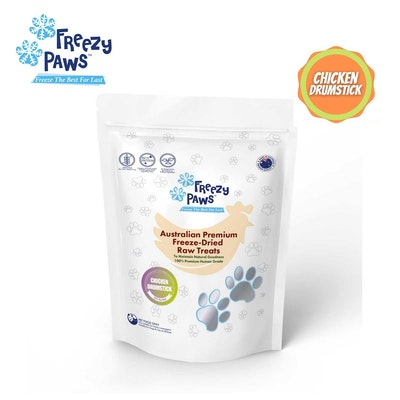 Freezy Paws Freeze-Dried Chicken Drumstick Raw Treats for Pet Cat Dog 100g