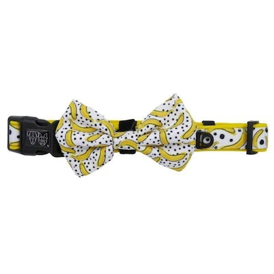 Big & Little Dogs Going Bananas Collar & Bow Tie