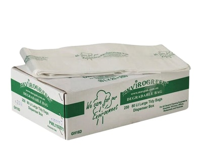 Bin Liner - C/Green Degradable Natural 80L