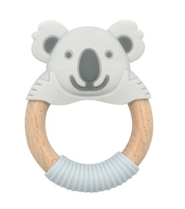BibiLand BibiBaby Teething Ring - Blinky Koala - Grey and Grey