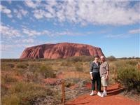 Nitty Gritty authors Ken and Maureen Hay at Uluru