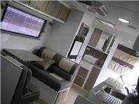 Roomy caravan with ensuite across the back.
