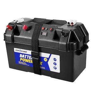 ATEM POWER ATEM POWER Battery Box 12V Portable Deep Cycle AGM Universal Large Marine