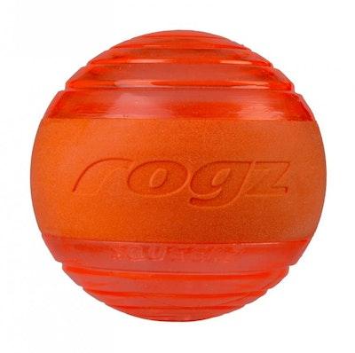 Rogz Ball Squeekz Orange