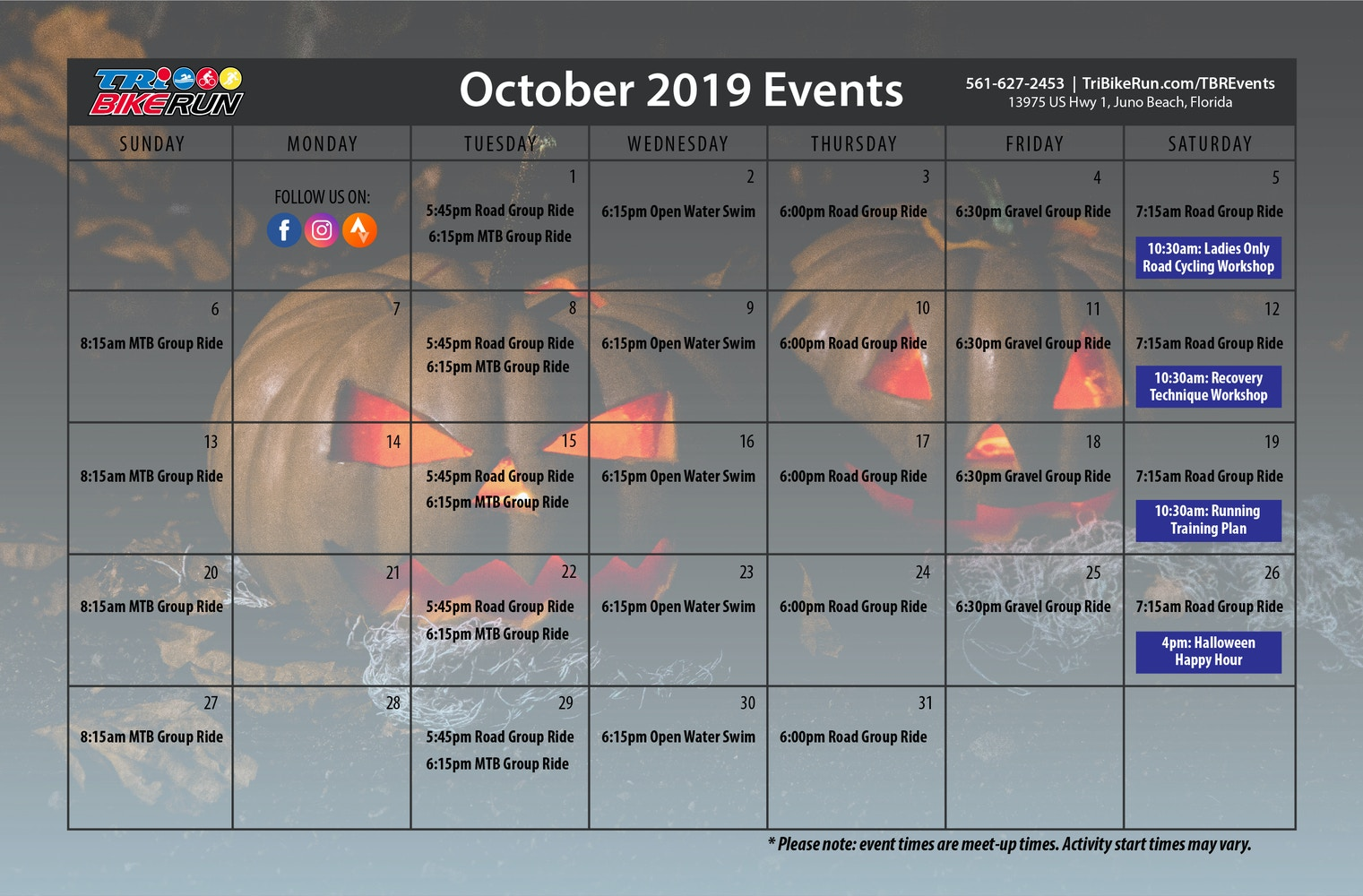 TBR Events Ocotober 2019