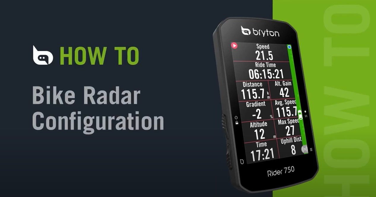 Bryton Rider 750 | Bike Radar Configuration