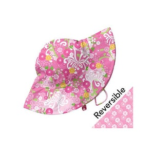 i play. Mix and Match Reversible Brim Sun Protection Hat-Light Pink Mum's Garden