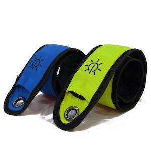 Equisafety LED Slap Wraps (Pack 1/Blue)