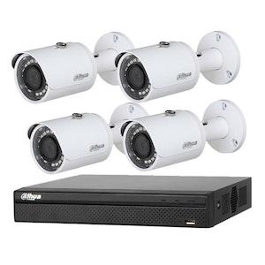 Dahua 4K 4Ch NVR CCTV Kit Including 2TB HDD and 4 x 3Mp IR Bullet Cameras