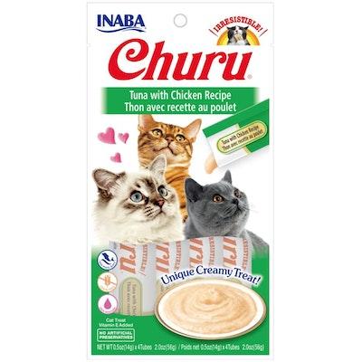INABA® Churu Purée Cat Wet Treat – Tuna With Chicken  14g X 4