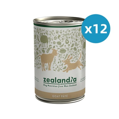 ZEALANDIA Goat Pate Dog Wet Food 385g x 12